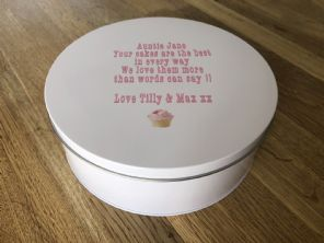 Shabby Personalised chic AUNTIE AUNTY AUNT Cake Biscuit Tin BAKER gift ANY NAME